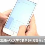 iPhone電話帳の名前が細・太文字の理由と変更し統一させる方法